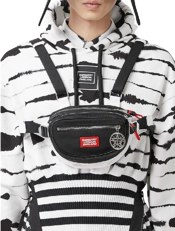 Burberry Logo Appliqué Econyl® Cannon Belt Pack In Black