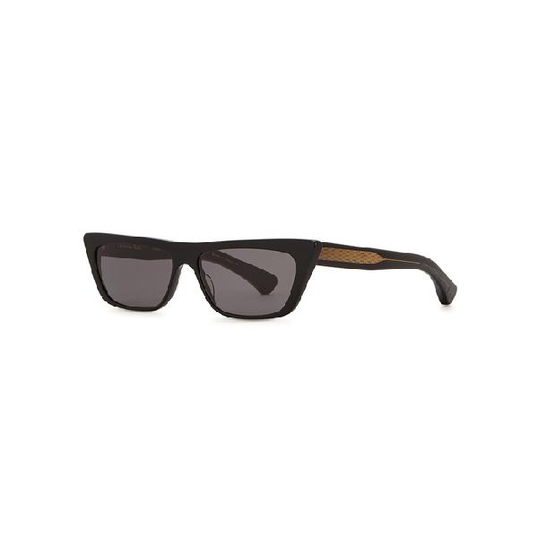 Christian Roth Cr-701 Black Cat-eye Sunglasses