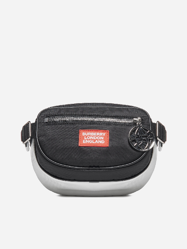 Burberry Logo AppliquÉ Econyl® Cannon Belt Pack In Blk/wht/red