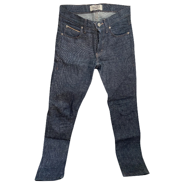Naked & Famous Blue Cotton Jeans