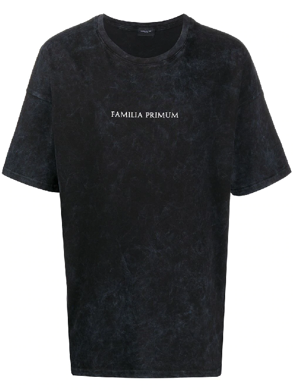 Family First Crew-neck Logo T-shirt In Black