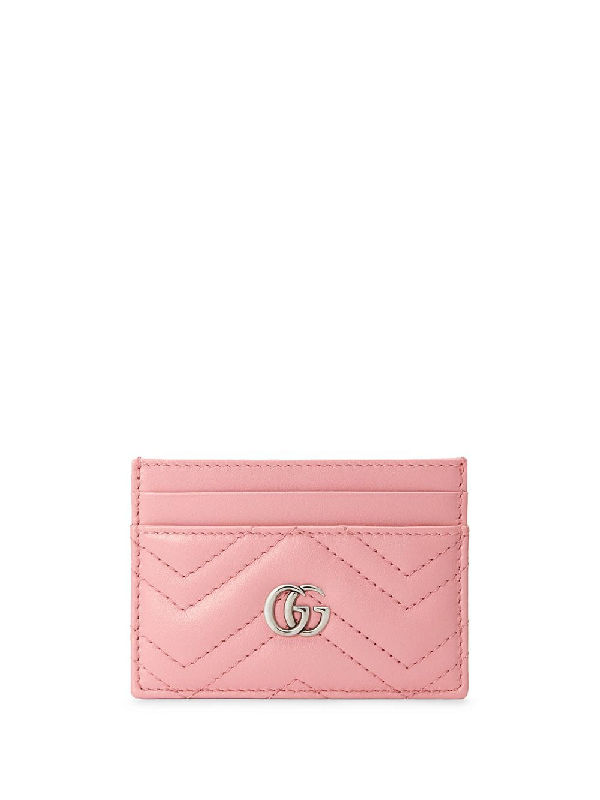 Gucci 'gg Marmont' Kartenetui In Pink