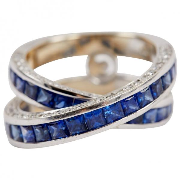 David Morris Blue White Gold Ring