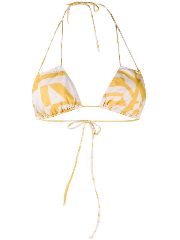 Roseanna X Edith Raymond Clea Bikini Top In Neutrals