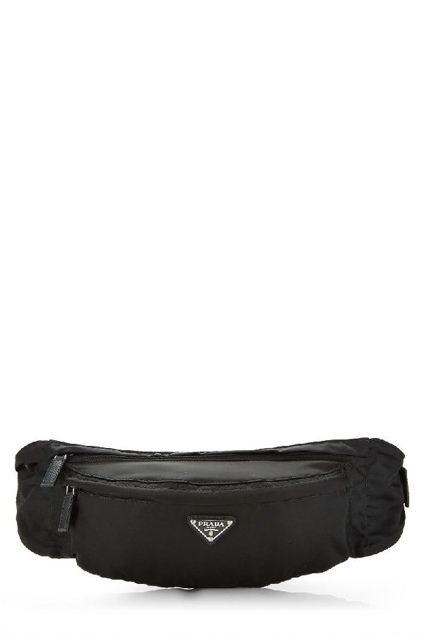 Prada Black Tessuto Belt Bag