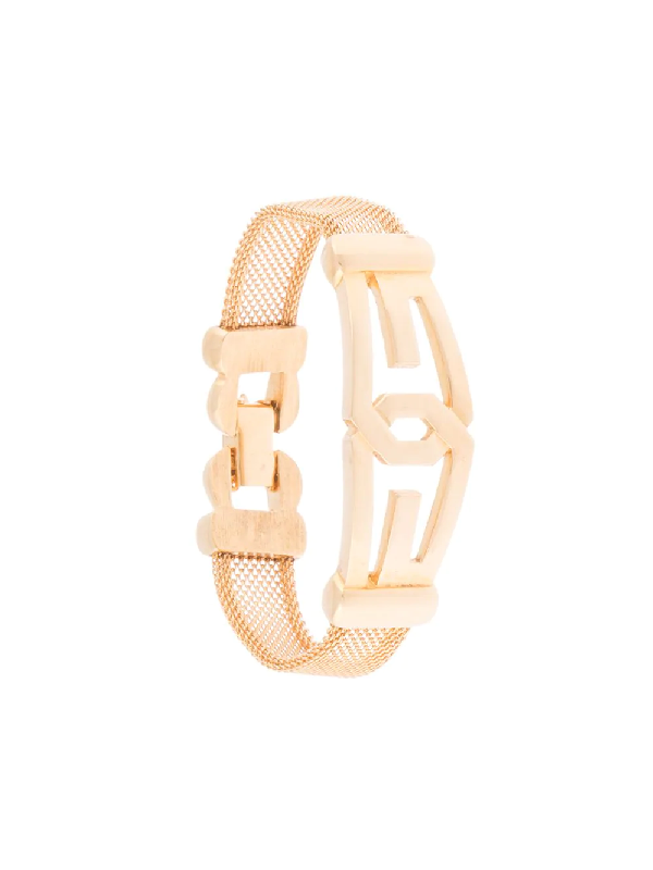 Givenchy 1977 Gg Mesh Bracelet In Gold