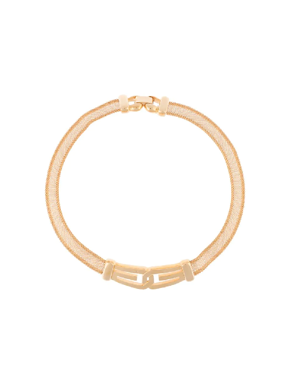 Givenchy 1977 Gg Mesh Choker Necklace In Gold