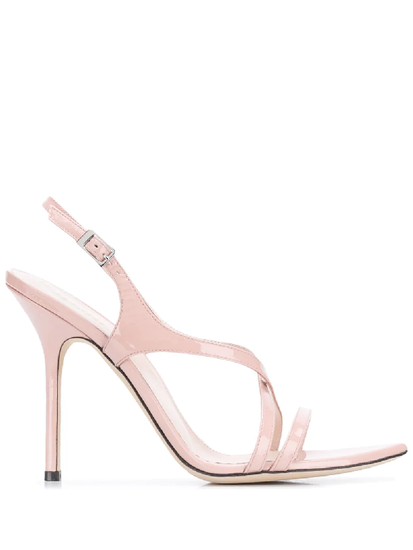 Pollini Open Toe 110mm Sandals In Pink