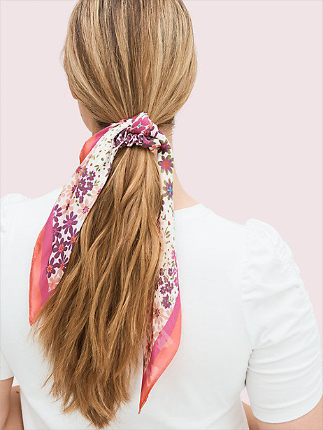 Kate Spade Pacific Petals Hair Tie And Bandana Set In Rock Candy