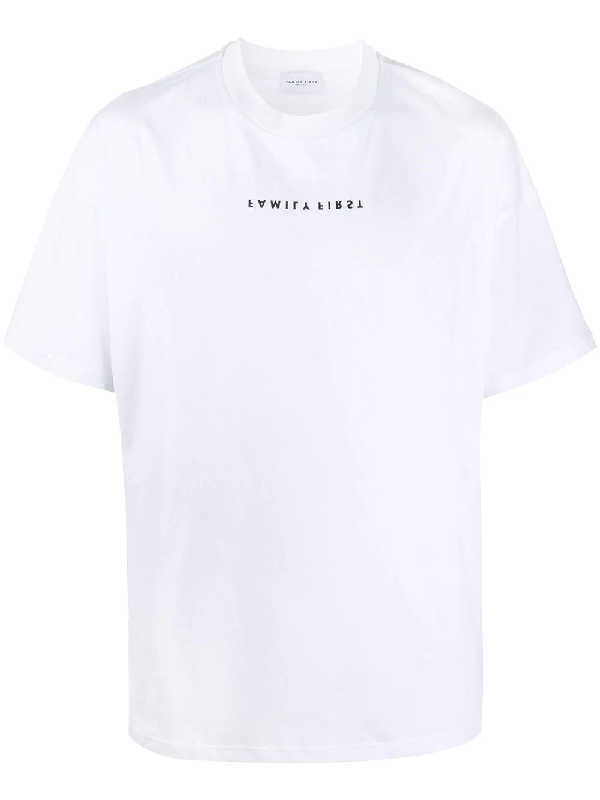 Family First Logo-print Cotton T-shirt In White
