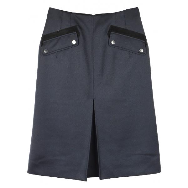 Belstaff Blue Wool Skirt