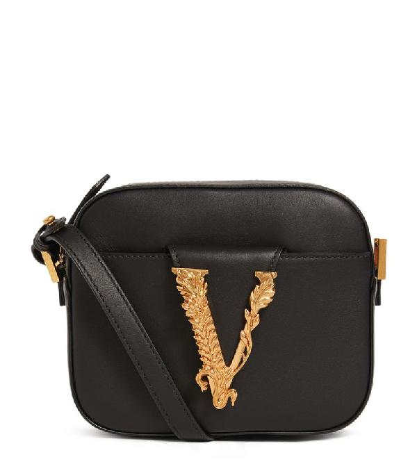 Versace Leather Virtus Camera Bag