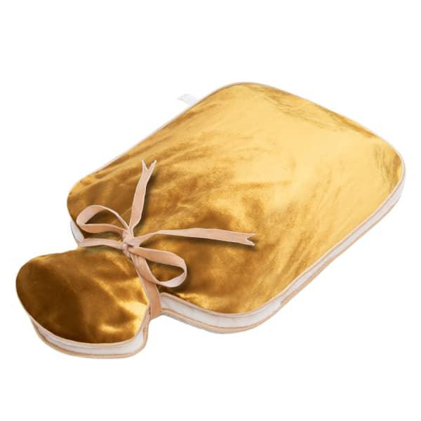 Holistic Silk Silk Velvet Hot Water Bottle Gold