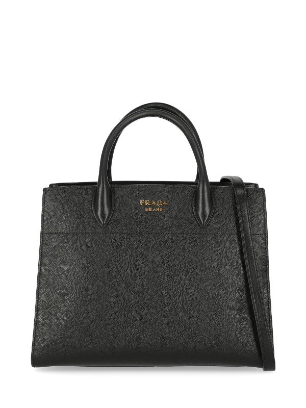 Prada Tote Bag In Black, White