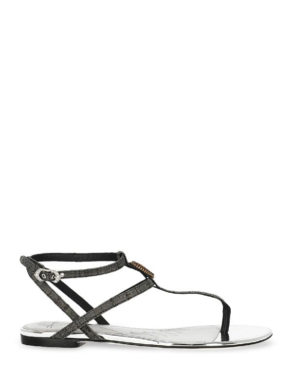 Dolce & Gabbana Flip-flops In Grey