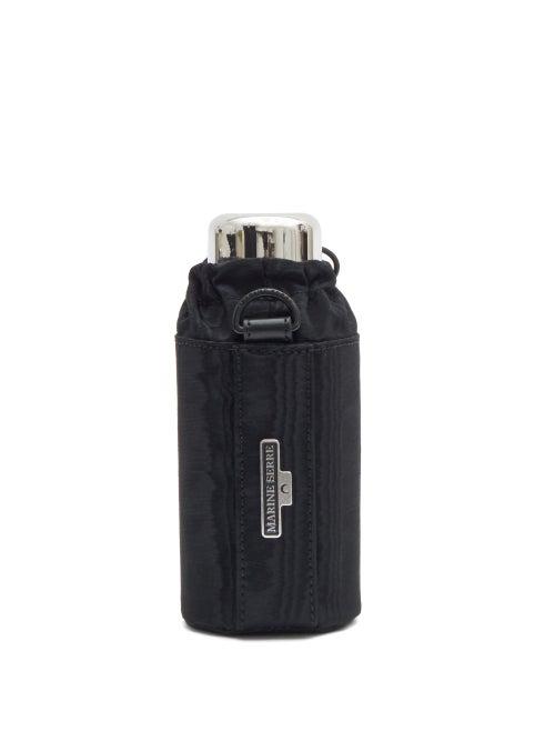 Marine Serre Water Bottle And Cross-body Holder In Black