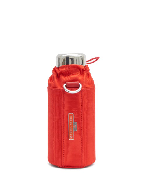 Marine Serre Water Bottle And Cross-body Holder In Red