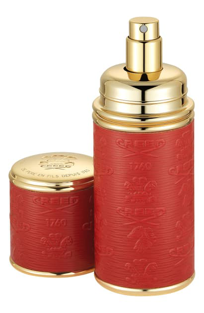 Creed Red With Gold Trim Leather Atomizer, 1.7 oz