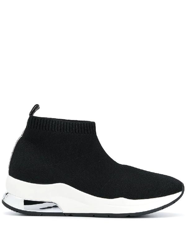 Liu •jo High-top Sock Sneakers In Black