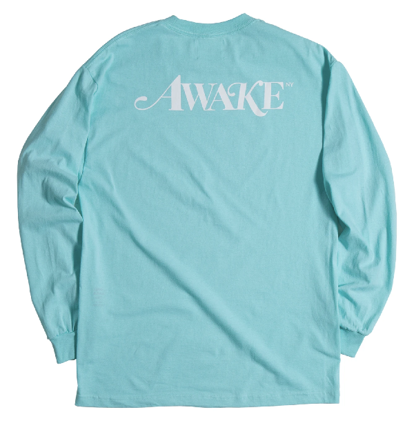 Awake Classic Logo L/s Tee Seafoam