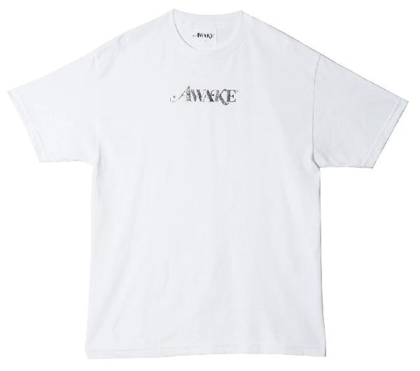 Awake Metallic Foil Logo Tee White