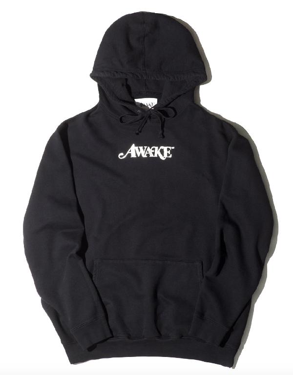Awake Metallic Foil Logo Hoodie Black