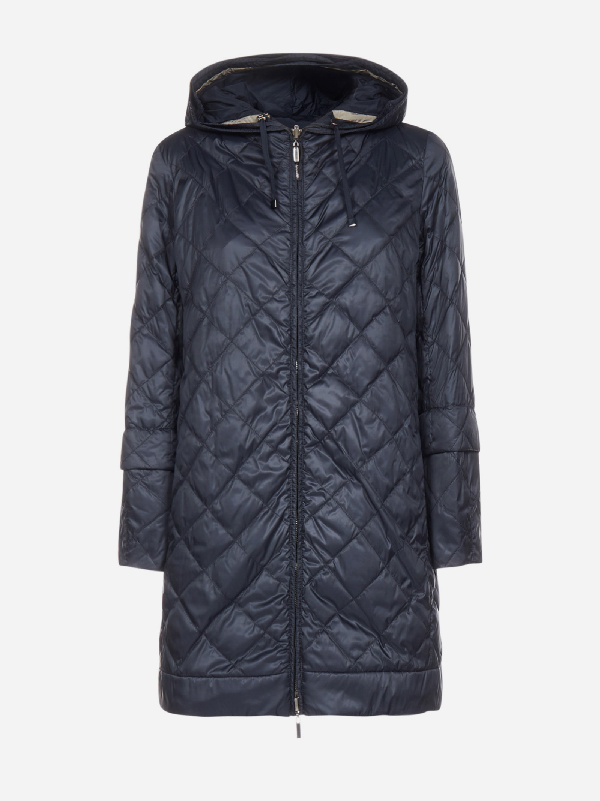 Max Mara The Cube Enovel Reversible Quilted Nylon Down Jacket In Dark Blue