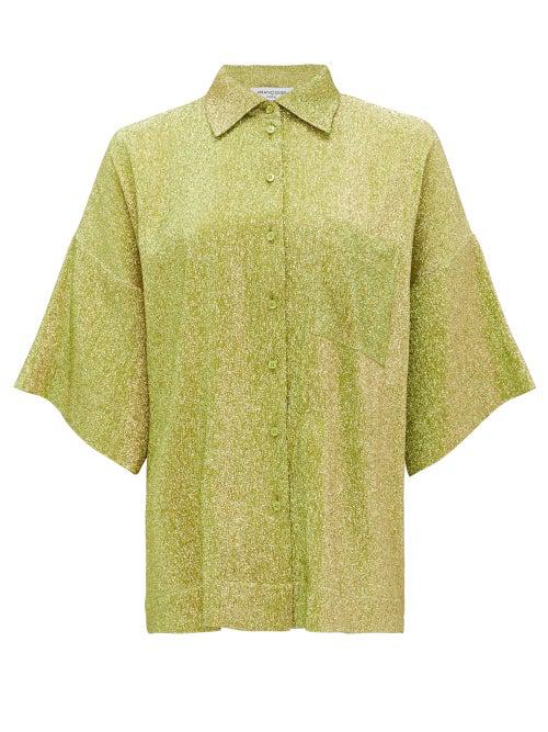 Francoise Hawaii Metallic Shirt In Green