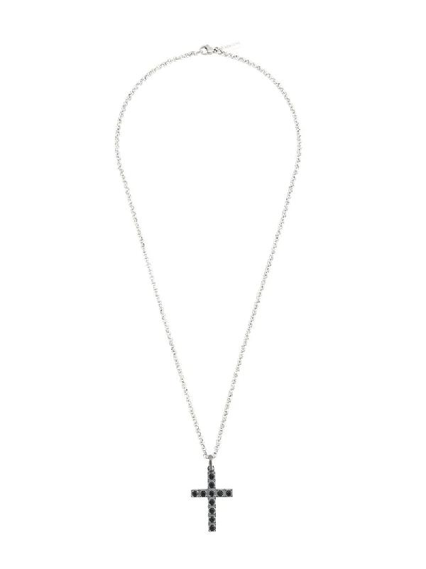Nialaya Jewelry Cross Pendant Necklace In Silver