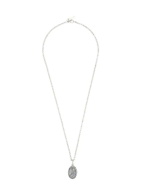 Nialaya Jewelry Lady Of Fatima Amulet Necklace In Silver