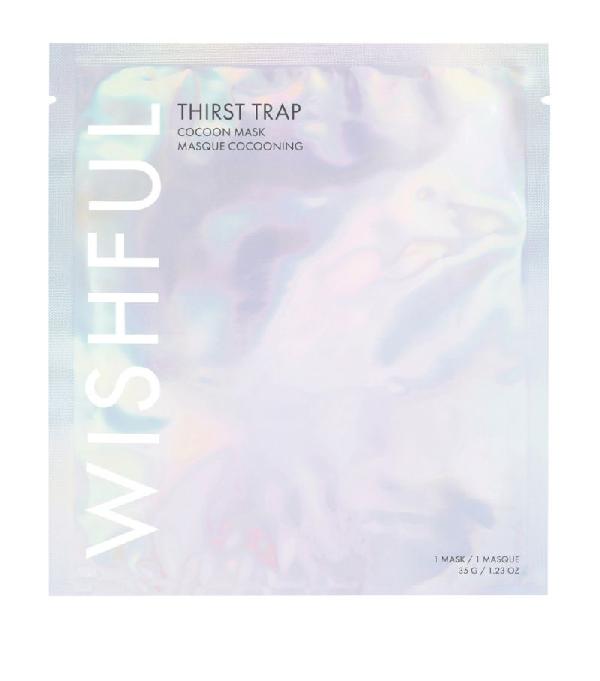 Huda Beauty Wishful Thirst Trap Cocoon Sheet Mask (35g) In White