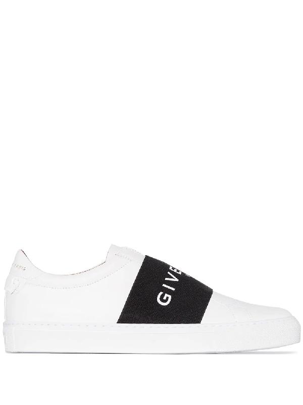 Givenchy 白色 And 黑色 Urban Street 弹性运动鞋 In White