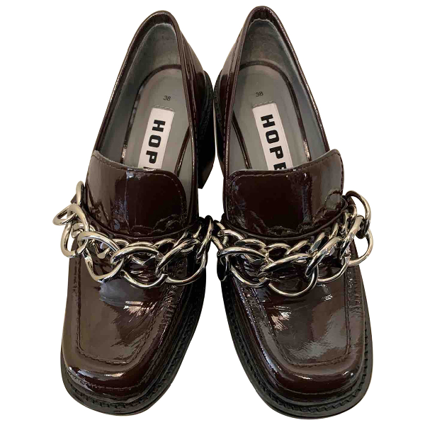 Hope Brown Patent Leather Heels