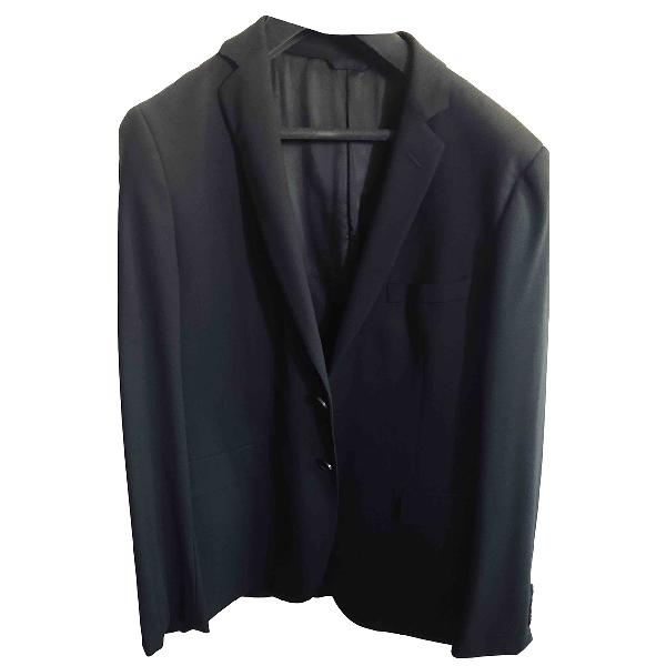 Tonello Black Wool Suits