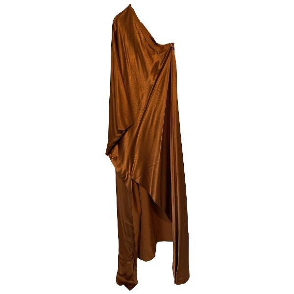 Rosetta Getty Brown Silk Dress