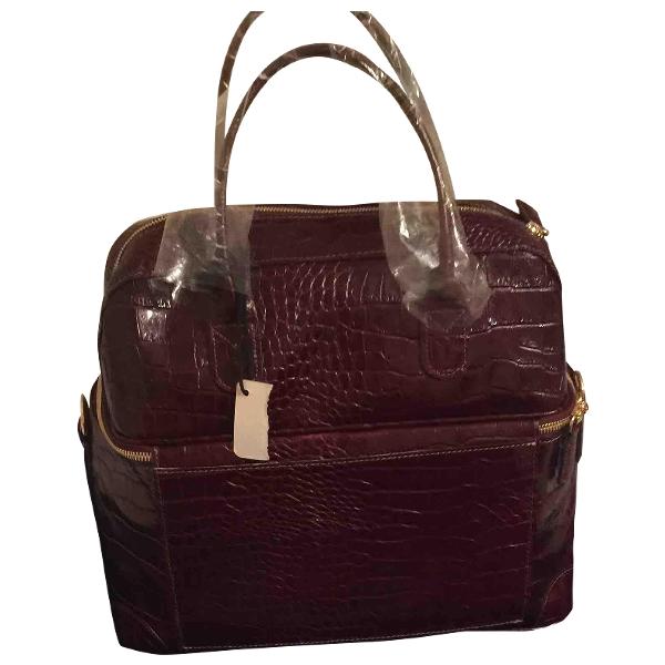 Bric's Burgundy Leather Travel Bag