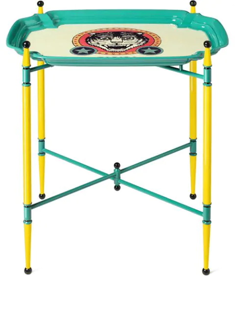Gucci Medium Folding Table In Blue ,yellow