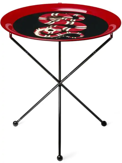 Gucci Kingsnake Folding Side Table In Red ,black