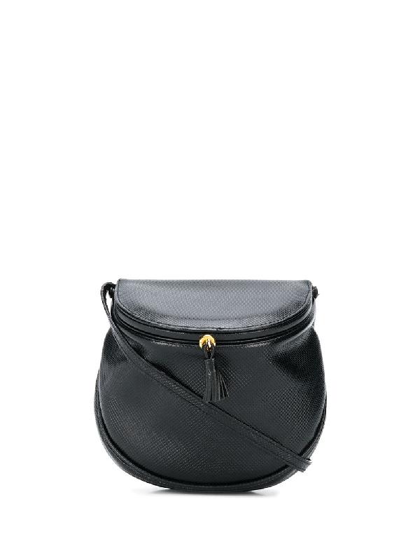 Bottega Veneta 1980s Marco Polo Crossbody Bag In Black