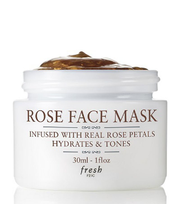 Fresh Rose Face Mask To Go In White