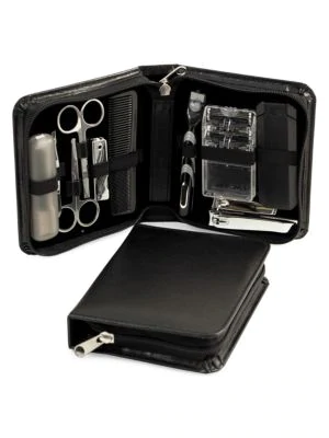 Bey-berk 13-piece Manicure & Grooming Set In Black