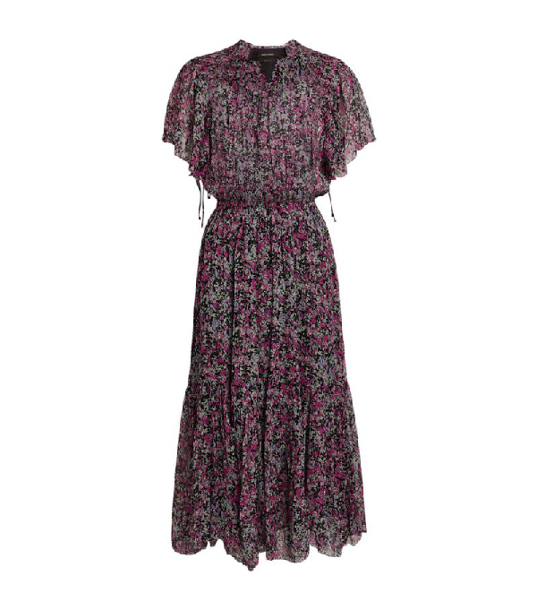 Isabel Marant Silk Floral Odelia Midi Dress