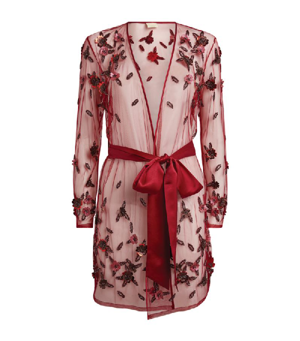 Myla Short Floral Embellished Robe