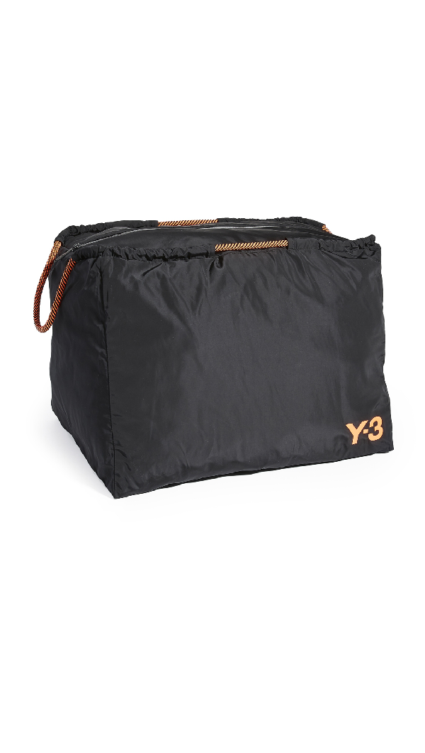 Y-3 Beach Bag In Black/solar Orange