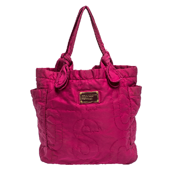 Marc By Marc Jacobs Fuchsia Nylon Medium Pretty Tate Tote In Pink