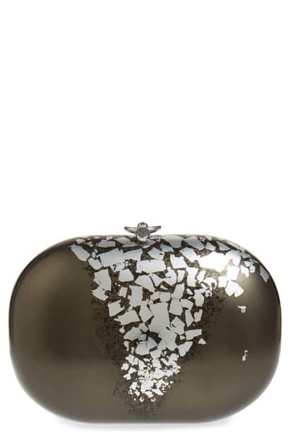 Jeffrey Levinson Elina Precious Metals Clutch In Black