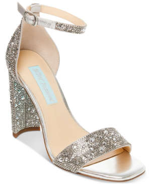 Betsey Johnson Rina Dress Sandal Women's Shoes In Silver