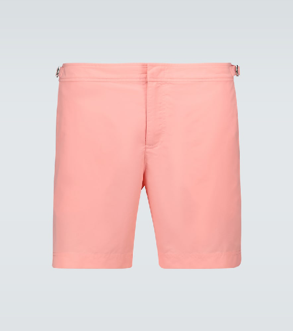 Orlebar Brown Bulldog Swim Shorts In Pink