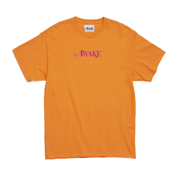Awake Classic Logo Tee Orange
