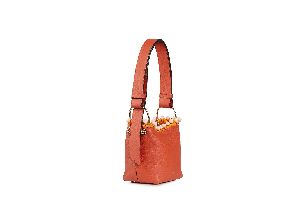 Ss20 Lana Nano Bucket Bag In Beaded Maple